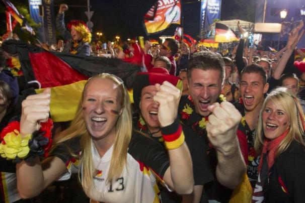 célébration Supporters Allemagne Coupe du monde 2014