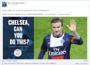 PSG Chelsea Facebook