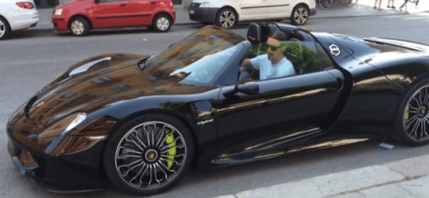 Porsche de Zlatan Ibrahimovic à 800 000€