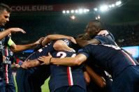 équipe PSG célèbre le but dde Verratti 2-1