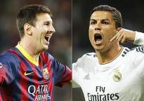 Lionel-Messi vs Cristiano-Ronaldo bouche ouverte