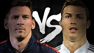 Messi ronaldo face