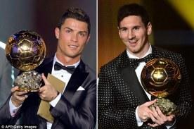 champions ballon d'or Ronaldo messi
