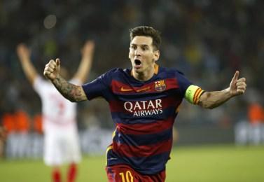 Lionel Messi célèbre un but