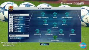 composition barcelone contre leverkusen