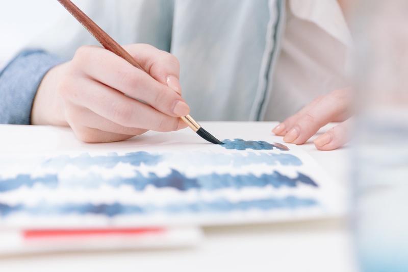 Cómo pintar con acuarela en seco?