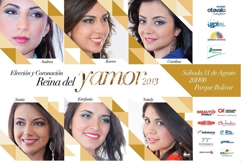 Candidatas Reinas Yamor 2013