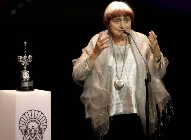 Agnès Varda recolle o premio Donostia