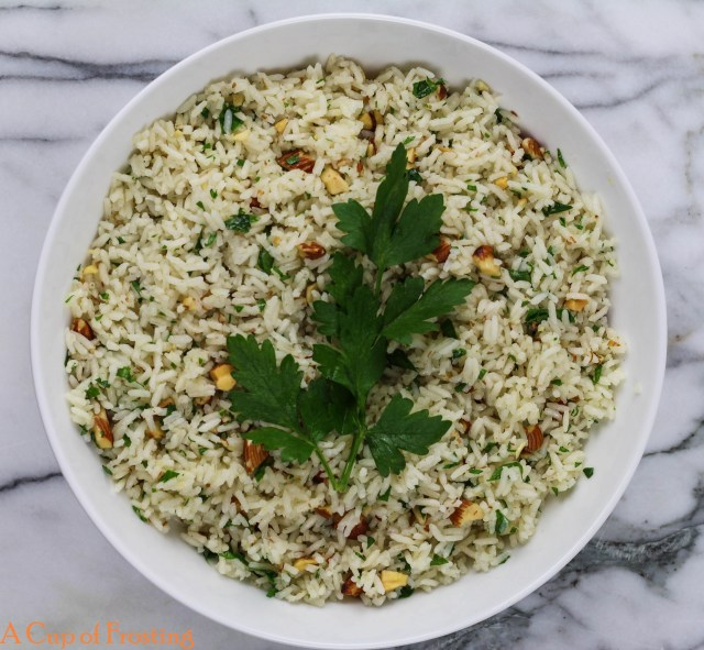 Rice in Serving Bowl
