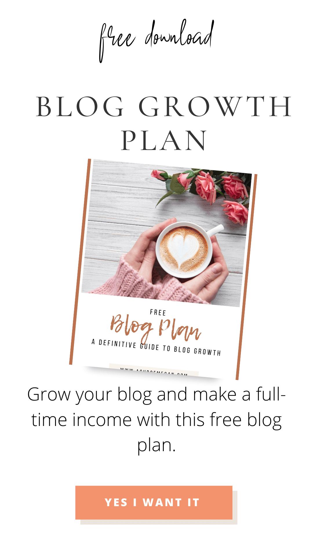 free blog growth plan