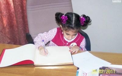 صور أطفال في سجل عودة خادم الحرمين الشريفين