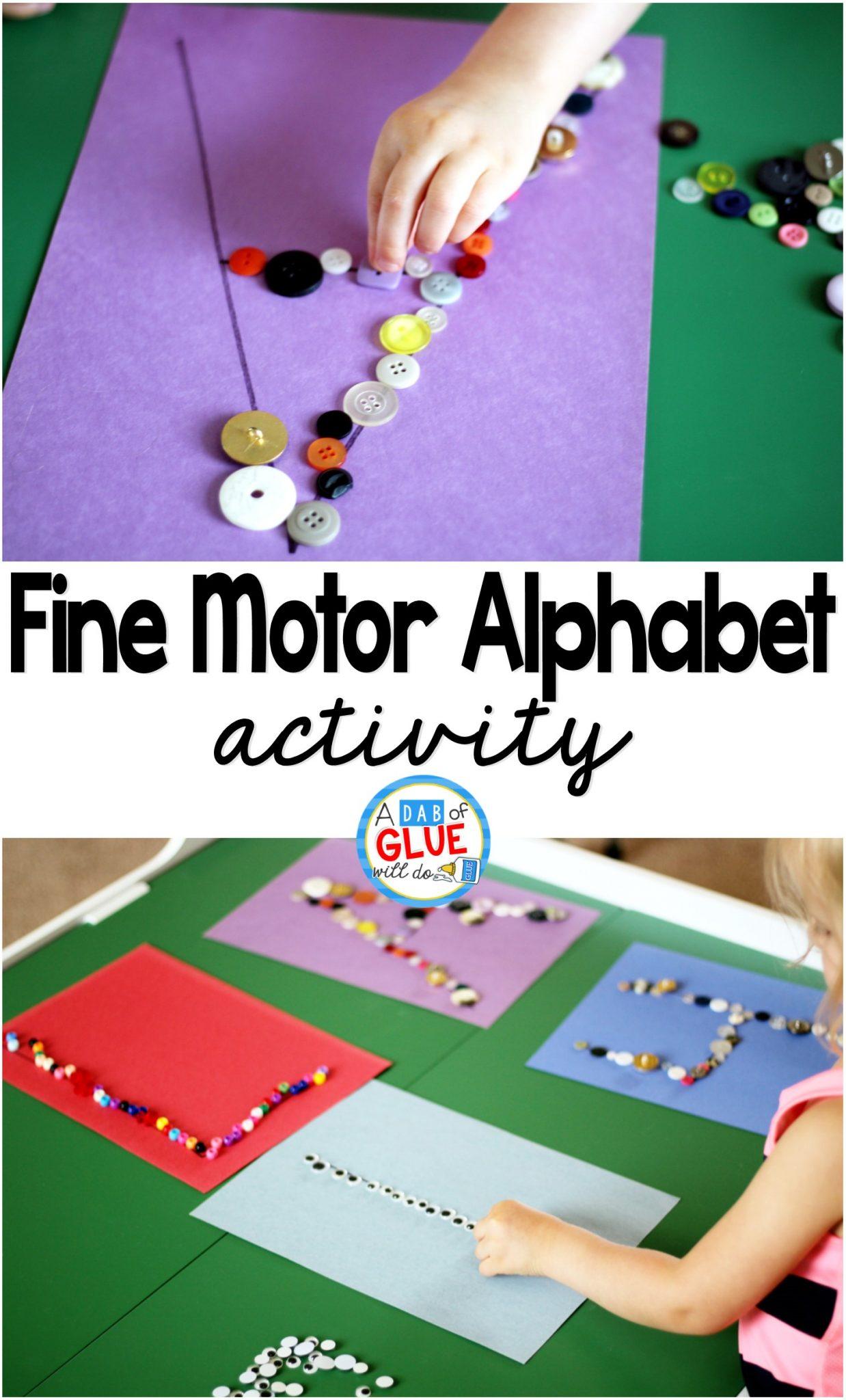 Fine Motor Skills Alphabet Activity