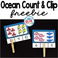 Ocean count and clip cards are perfect for the end of the year or summer review at home. There are two formats available. You can use the self checking count and clip cards or regular count and clip cards.