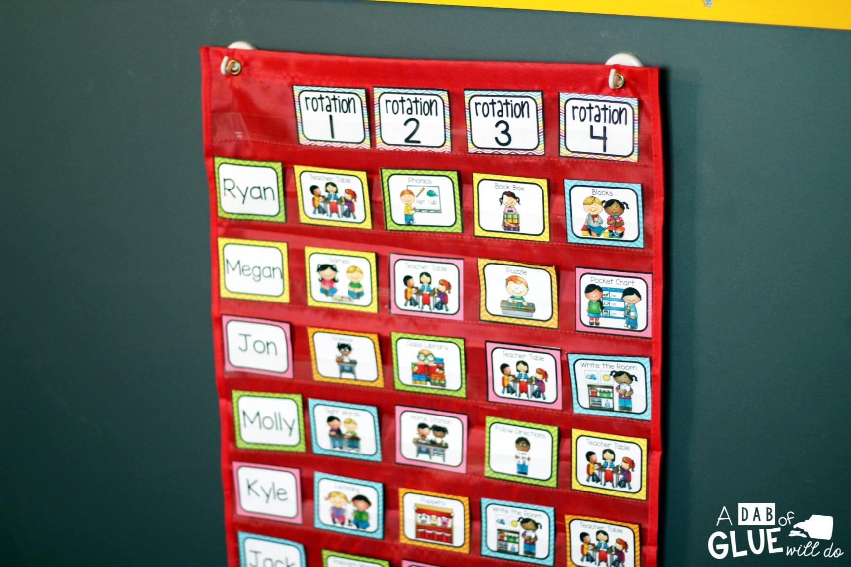 Chart Rotation Kindergarten Center