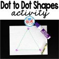 Dot to Dot Shapes is a fun hands-on activity that your students or children will very much enjoy.
