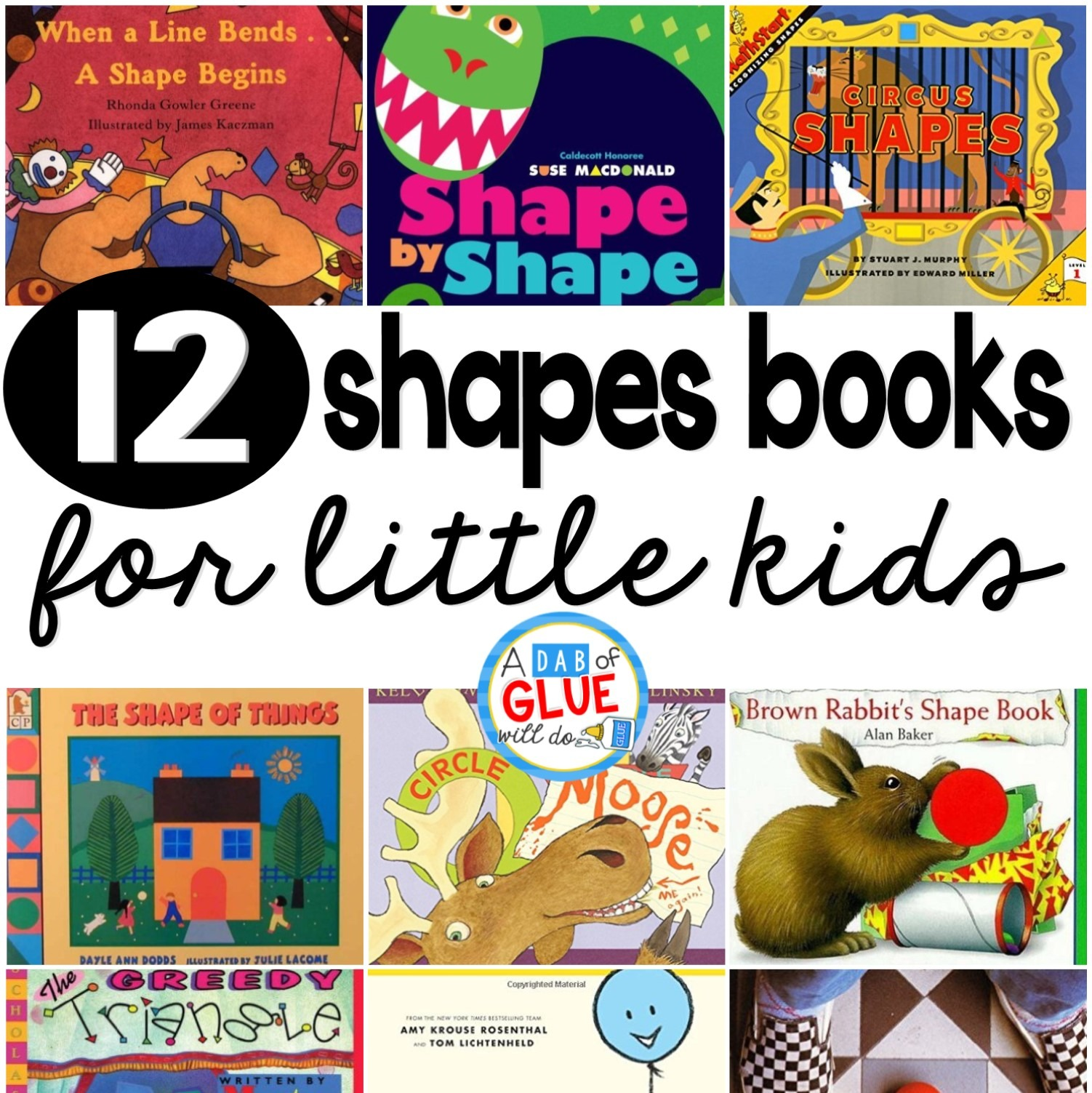 12 Shapes Books For Little Kids