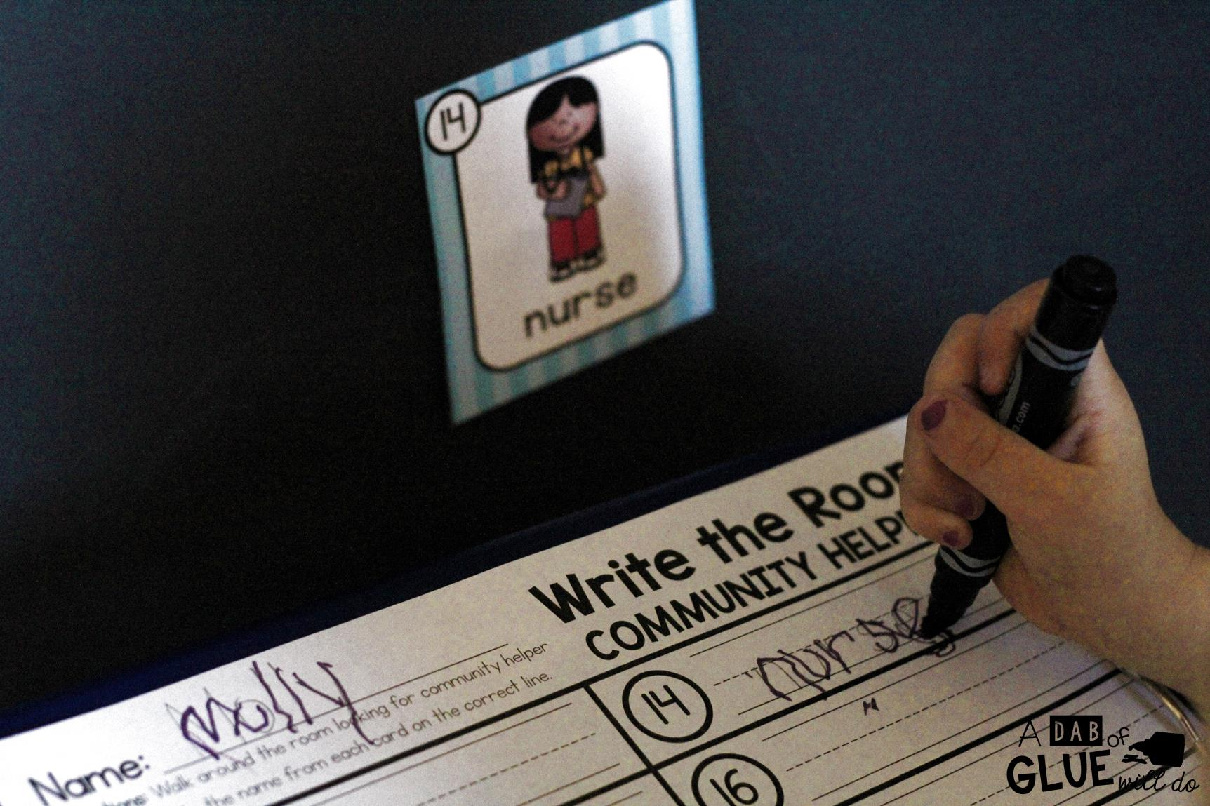 Community Helpers Write And Color The Room Is Perfect For