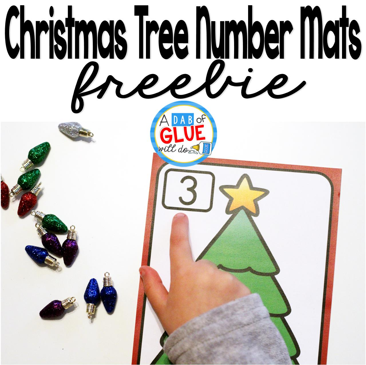 Christmas Tree Number Printable Math Manipulatives