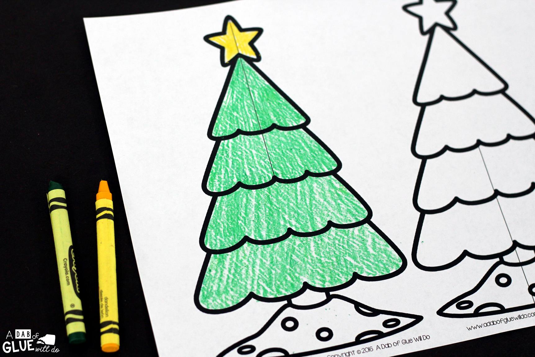 Why do we have christmas decorations on a tree - First You Will Want To Have Your Students Color Their Christmas Trees Of Course We Focus On Green Trees In General But Let Your Students Color Whatever