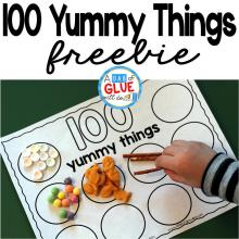 100 Yummy Things Printable