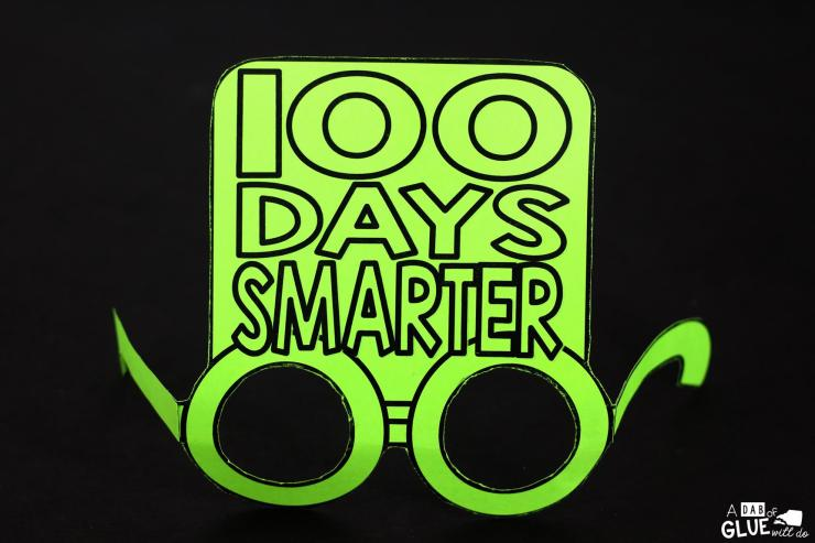 These 100th Day of School glasses will be the perfect way for your students to celebrate the 100th day of school. This free prinable is perfect for preschool, kindergarten, or first grade students.