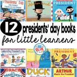 Our 12 favorite Presidents' Day books are perfect for your Presidents' Day lesson plans this February. These are great for preschool, kindergarten, or first grade students.