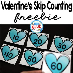 Valentine's Day Skip Counting Math Printable