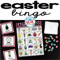Play Bingo with your elementary age students with these fun Bingo Sheets for Easter! Perfect for large groups in your classroom or small review groups. Add this to your Easter party with 30 unique themed Bingo boards with your students! Teaching cards are also included in this fun game for young children! Black and white options available to save your color ink.