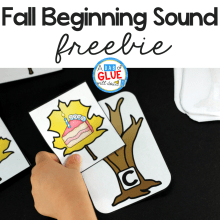 Fall Initial Sound Match-Up Free Printable
