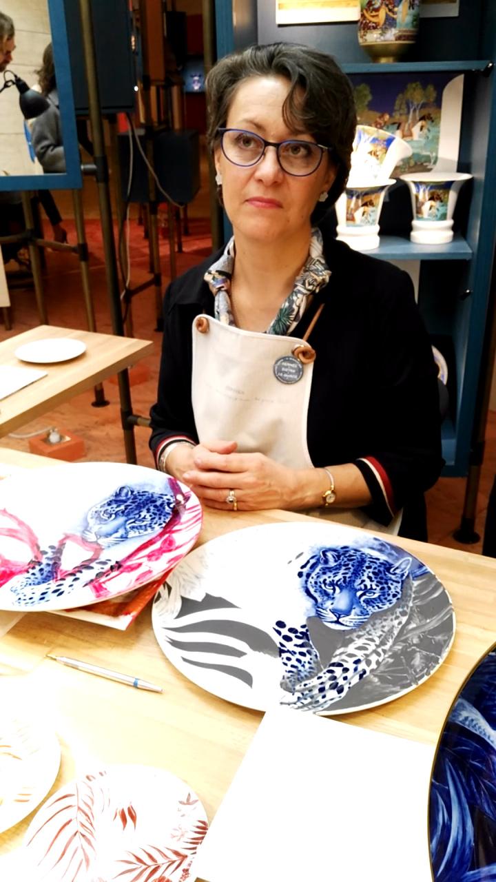 La pittrice su porcellana, Hermès dietro le quinte, Museo dell'Ara Pacis