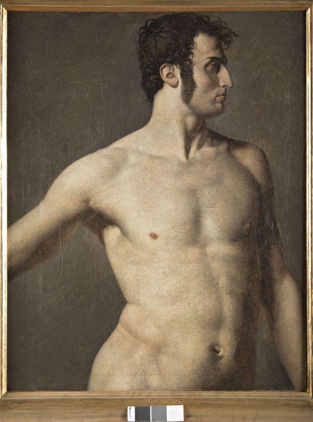 J.A.D. Ingres, Torso d'uomo, 1799, Olio su tela, 99 x 80 cm. Musée Ingres, Montauban