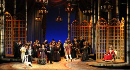 Eugene Onegin is a lyric opera in two acts and seven scenes by Peter Ilych Tchaikovsky