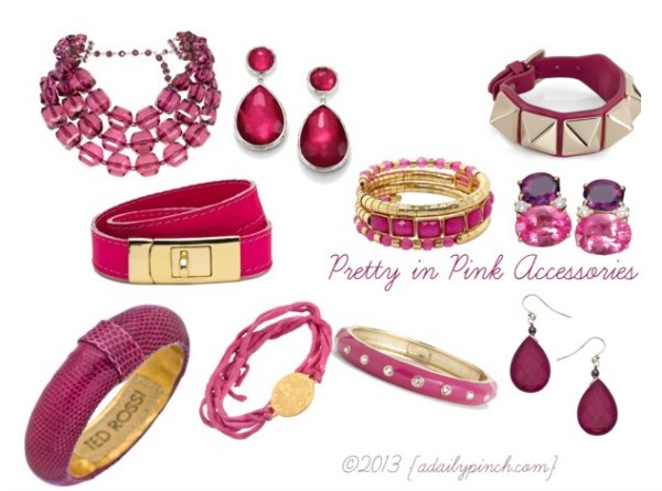 Pretty in Pink Fashion Accessories {adailypinch.com}