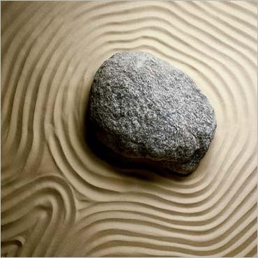 zen rock in sandgarden