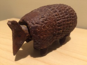 Bobble-head Armadillo, supposedly once belonging to Elizabeth Bishop