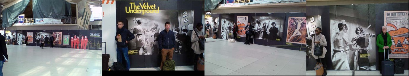 Hoardings at Gare du Nord Station displaying my photographs
