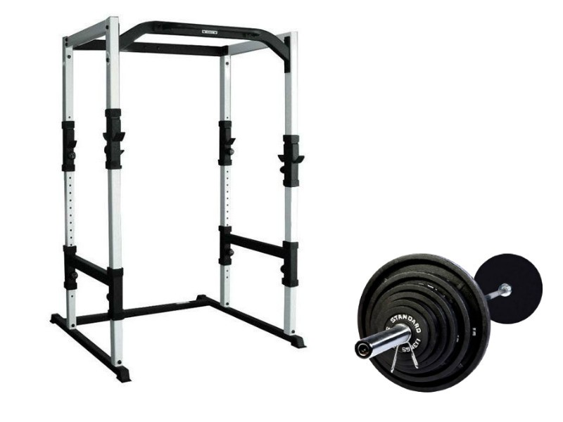 york fts power rack with weights for sale