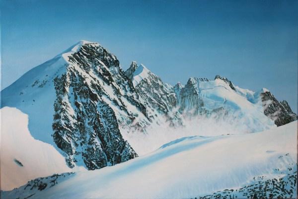 Stmoritz Switzerland Attew Painting Landscape artist art ski snowboard mountain winter Snow Alpine Alps kunst berge