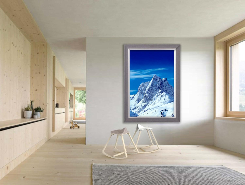 Austria Lech Attew Painting Landscape artist art ski snowboard mountain winter Snow Alpine Alps Montagne Alpes