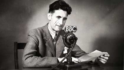 George Orwell, presumably giving We, The Watch free advertising.