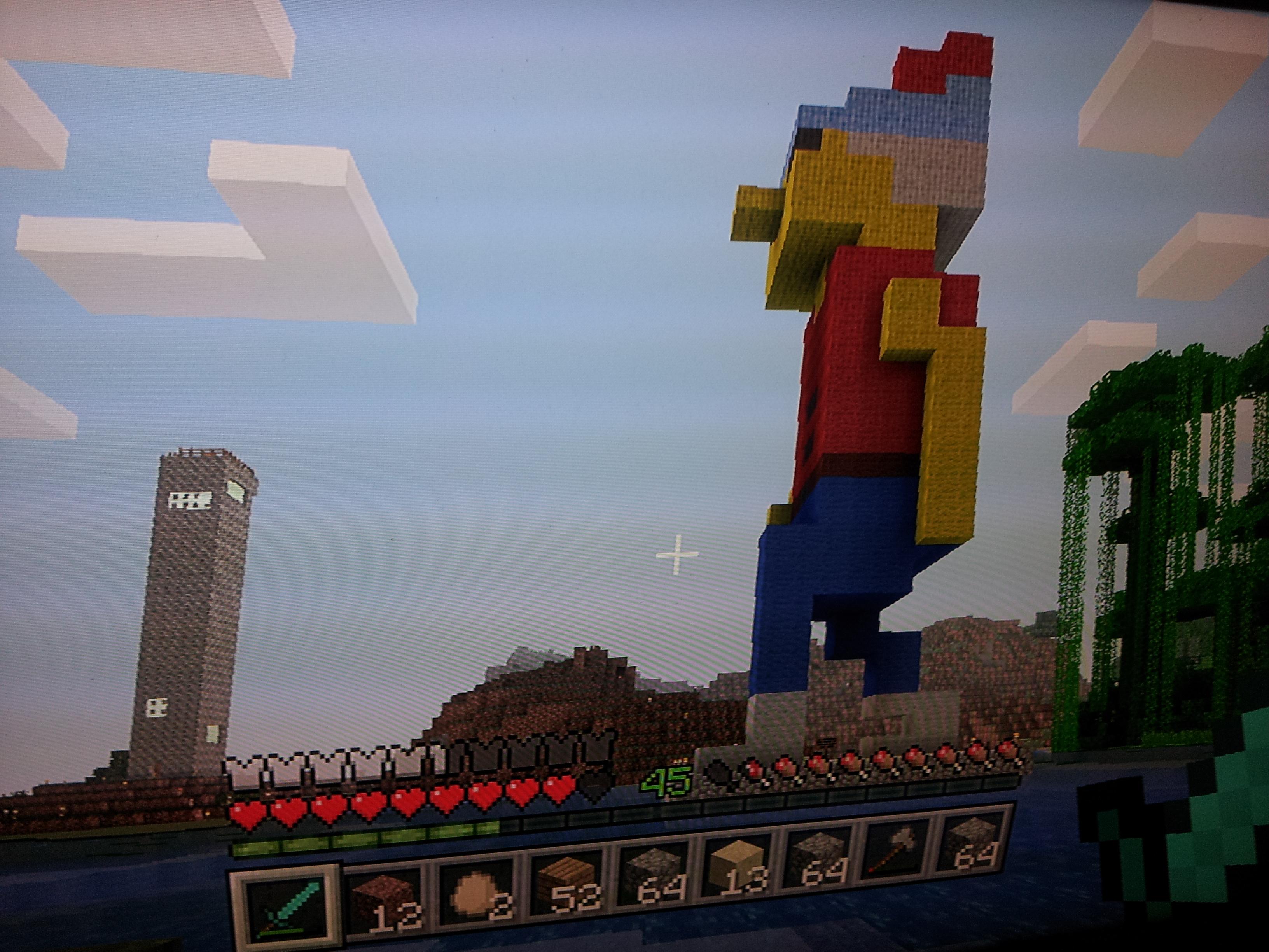 King Graham Statue - King's Quest Meets Minecraft - Adam David Collings