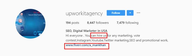 Upwork It Agency Instagram
