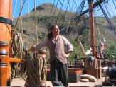 Andersen as extra on the replica of Bounty his team hired for POTC2/3 down in St Vincent. She played the Edinburgh Trader that gets broken in half by the kraken!