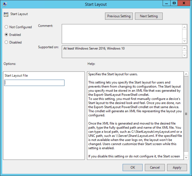 Deploying a Locked Down Start Menu in Windows 10 - AdamFowlerIT com