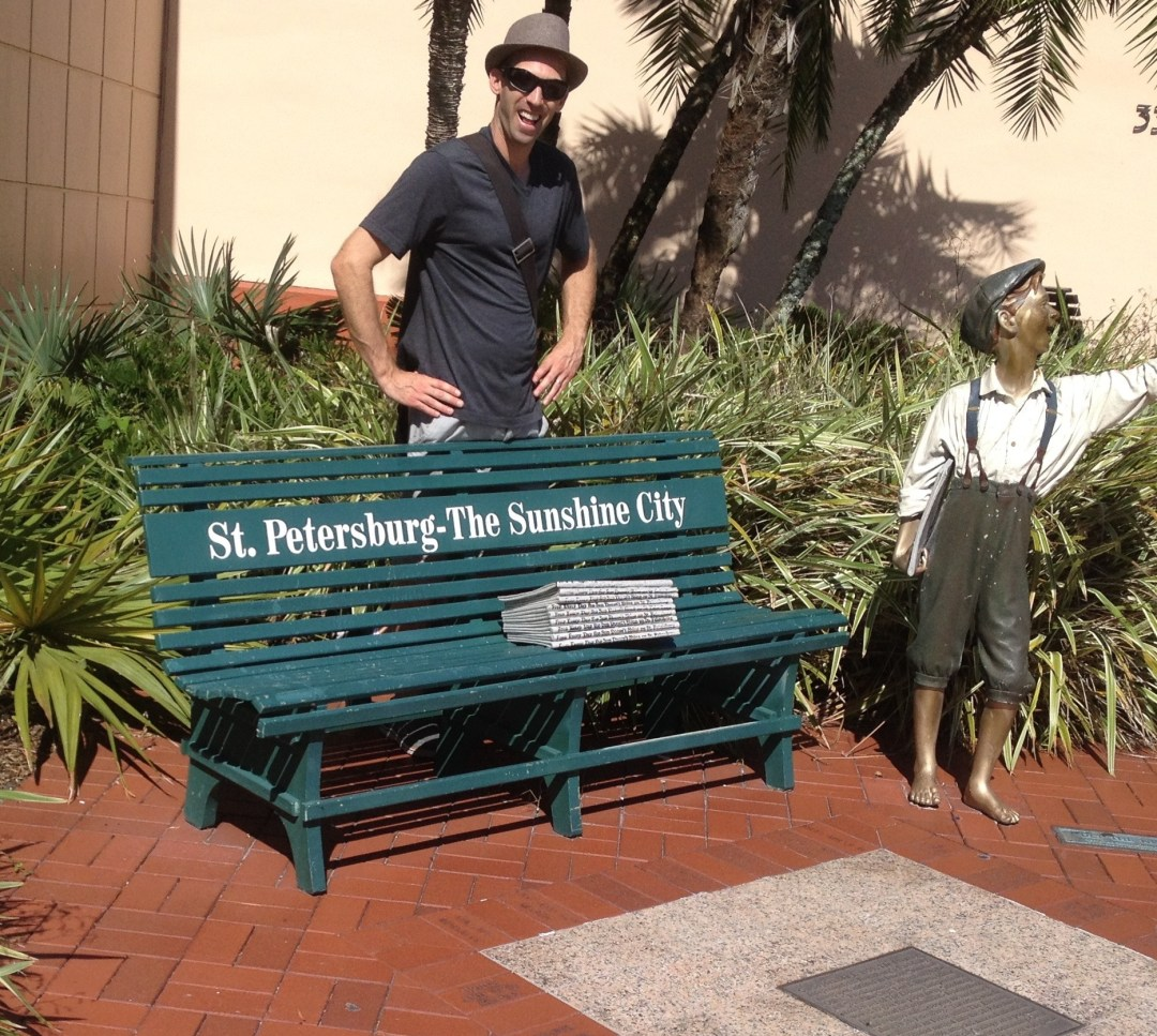 Standing outside of St. Pete Museum of History