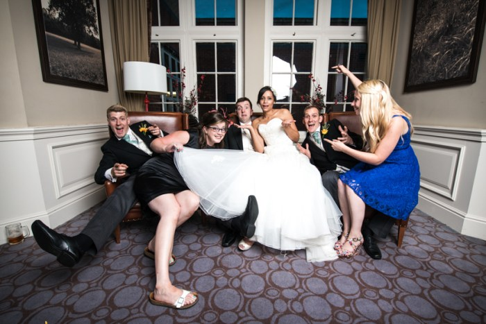 Alternative Wedding Party Portrait