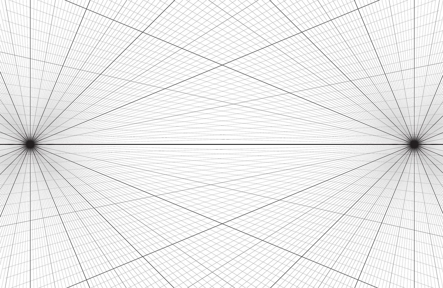 One Point Perspective Grid Template