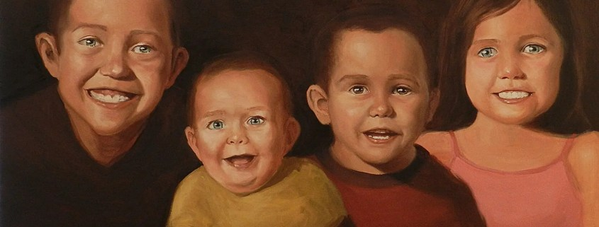Children oil painting by Adam Miconi