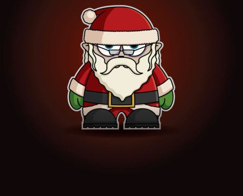 Santa Clause Chibi by Adam Miconi