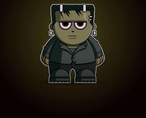 Frankenstein Chibi by Adam Miconi